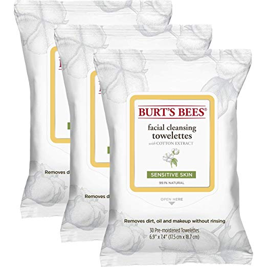 Prime Day Beauty Sale - Burts Bees Sensitive Facial Cleansing Towelettes