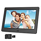 Digital Photo Frame 1280x800 16:9 IPS Screen Include 32GB SD Card HD Digital Picture Frame Widescreen, Support 1080P Videos, Photos Auto Rotate, Support Thumb USB Drive, SD/MMC/MS Card(7 Inch Black)