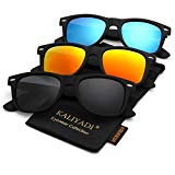 Unisex Polarized Sunglasses Stylish Sun Glasses for Men and Women | Color Mirror Lens | Multi Pack Options