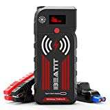 BEATIT G18 QDSP 2000Amp Peak 12V Portable Jump Starter (Up to 8.0L Gas and Diesel Engine) 21000mAh Power Bank With Wireless Charger Smart Jumper Cables