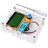 Multifunction Meter DIY kit, kuman Mega 328 Graphic transistor Tester, NPN PNP Diodes Triode Capacitor ESR SCR MOSFET Resistor Inductance LCD Display Checker with case and screwdriver K77