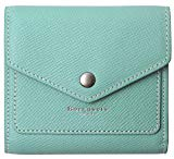 Small Leather Wallet for Women, RFID Blocking Women's Credit Card Holder Mini Bifold Pocket Purse (Crosshatch Mint Green)