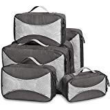 G4Free Packing Cubes 6pcs Set Travel Accessories Organizers Versatile Travel Packing Bags(Gray)