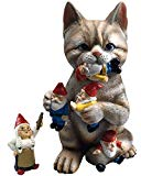 by Mark & Margot - Mischievous Cat Garden Gnome Statue Figurine - Best Art Décor for Indoor Outdoor Home Or Office (One Size, Mischievous Cat)