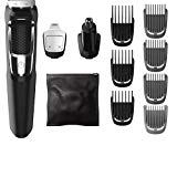 Philips Norelco Multigroom Series 3000, MG3750/50, Beard Face and Body Hair Trimmer for Men, 13 Attachments - NO BLADE OIL NEEDED
