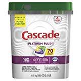Cascade Platinum Plus Dishwasher Detergent Actionpacs, Lemon, 70 Count