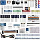 Keywishbot Electronic Component Base Fun Kit Bundle with Breadboard Cable Resistor,Capacitor,LED,Potentiometer for Arduino UNO,MEGA2560, Raspberry Pi