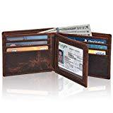 Leather wallets for men - Rfid slim leather wallet for men wallets credit card front pocket wallet