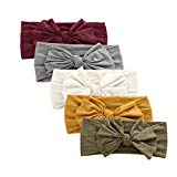 Baby Girl Nylon Headbands Newborn Infant Toddler Hairbands and Bows Child Hair Accessories (ZM13-5pcs)