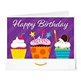 Amazon Gift Card - Print - Birthday Cupcakes