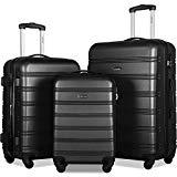 Merax 3 Pcs Luggage Set Expandable Hardside Lightweight Spinner Suitcase