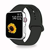 VATI Sport Band Compatible for Apple Watch Band 42mm 44mm, Soft Silicone Sport Strap Replacement Bands Compatible with 2018 iWatch Apple Watch Series 4/3/2/1, 42MM 44MM M/L (Dark Olive)
