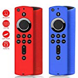 [2 Pack ] Firestick Remote Cover, Silicone Fire Remote Cover Compatible with 4K Firestick TV Stick, Fire Remote Cover 4K, Lightweight Anti Slip Shockproof Firetv Remote Cover
