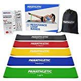 Resistance Loop Bands/Exercise Bands/Fitness Bands, Set of 5, with Exercise Guide, eBook and Carry Bag - 5X Power Body Workout Band for Legs and Butt, Yoga, Crossfit, Strength Training, Pilates