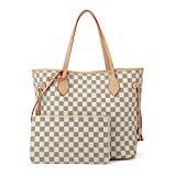 Women Handbags Hobo Shoulder Bags Tote PU Leather Handbags Fashion Large Capacity Bags White