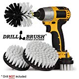 Automotive Soft White - Drill Brush - Leather Cleaner - Car Wash Kit - Car Cleaning Supplies - Wheel Cleaner Brush - Car Detailing Kit - Car Carpet - Interior, Vinyl, Upholstery, Fabric Seat Cleaner