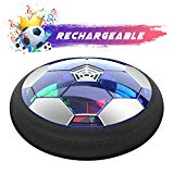 WisToyz Kids Toys Hover Soccer Ball Rechargeable Air Soccer, Soccer Ball Indoor Floating Soccer with LED Light and Foam Bumper, Perfect Time Killer for Boys, Girls, Toddler (No AA Batteries Needed)