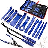 19Pcs Trim Removal Tool,Car Panel Door Audio Trim Removal Tool Kit, Auto Clip Pliers Fastener Remover Pry Tool Set with Storage Bag