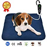 "RIOGOO Pet Heating Pad, Electric Heating Pad for Dogs and Cats Indoor Warming Mat with Auto Power Off 18"" x 18"""