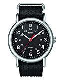 Timex Unisex T2N647 Weekender Black Nylon Slip Thru Strap Watch