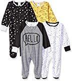Gerber Baby Boys' 4-Pack Sleep 'N Play, Star, 3-6 Months