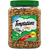 TEMPTATIONS Classic Treats for Cats Seafood Medley Flavor, 30 oz. Tub