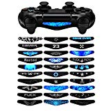 eXtremeRate 30 Pcs/Set Color Artwork Pattern Signs Led Lightbar Cover Light Bar Decals Stickers Flim for Playstation 4 PS4 Slim PS4 Pro Controller Skins