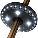 OYOCO Patio Umbrella Light 3 Brightness Modes Cordless 28 LED Lights at 200 lumens-4 x AA Battery Operated,Umbrella Pole Light for Patio Umbrellas,Camping Tents or Outdoor Use (Black)