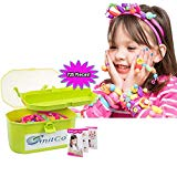 SMITCO Pop Snap Beads - Play Jewelry for Toddler Girls - 725 Piece Preschool Crafts Jewelry Making Kit for Kids - Lock or Pop Together Connecting Sensory Toys with Headbands, Bracelets and Rings