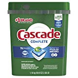 Cascade complete Actionpacs Dishwasher Detergent, Fresh Scent, 78Count