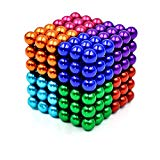 LiKee 8 Colors 5MM 216 Pieces Magnetic Sculpture Magnet Building Blocks Fidget Gadget Toys for Stress Relief, Office and Home Desk Decor, Cool Gadget for Adult,Man,Women