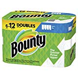 Bounty Select-A-Size Paper Towels, White, 6 Double Rolls = 12 Regular Rolls, Prime Pantry (Packaging May Vary)