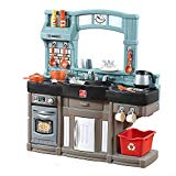 Step2 Best Chefs Kitchen Playset | Kids Play Kitchen with 25-Pc Toy Accessories Set | Real Lights & Sounds