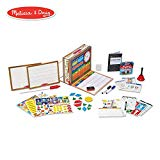 """Melissa & Doug School Time! Classroom Play Set (Role-Play Center, Reusable Double-Sided Boards, Easy Storage Box, 150+ Pieces, 13.5"""" H x 10.5"""" W x 4"""" L)"""