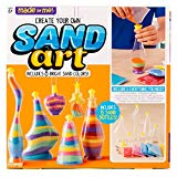 Made By Me Create Your Own Sand Art by Horizon Group USA, Includes 4 Sand Bottles & 2 Pendent Bottles with 8 Bright Sand Colors, Multicolored