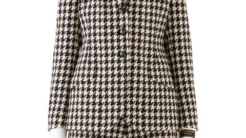 Houndstooth Fitted Jacket