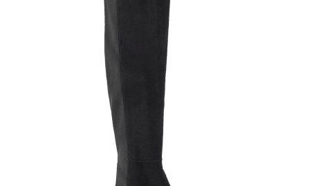 50/50 Suede & Gabardine Over-the-Knee Boots