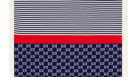 GG Jacquard & Stripe Baby Blanket