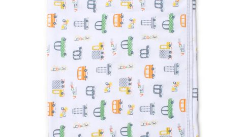 Wild Wheels Pima Baby Blanket