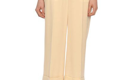 ValentinoCropped Wool-Gabardine Wide-Leg Pants