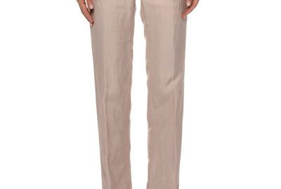 TOM FORDSide-Tabs Straight-Leg Viscose-Linen Pants
