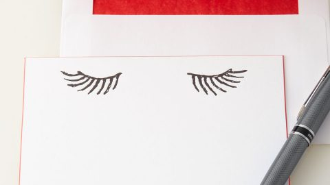 Eyelashes Stationery