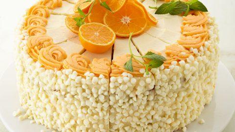 "10"" White Chocolate Orange Creamsicle Cake"
