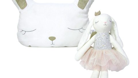 Girls' Bella Bunny Plush & Doll Set, 0-12 Months