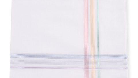 Men's Rainbow Border Handkerchief