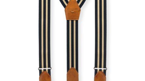 Men's Hugo Leather-Trim Braces