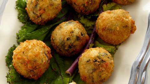 Sweet Onion & Kale Risotto Bites, For 15 People