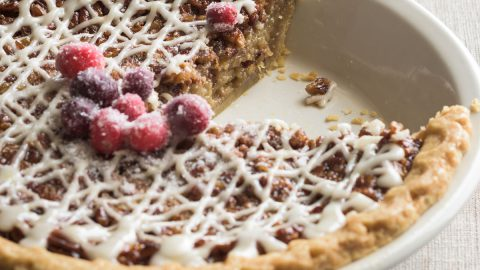 Whiskey Pecan Pie, For 10-12 People