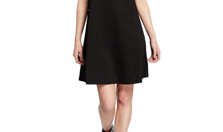 McQ Alexander McQueenEmbellished Swallow Short-Sleeve Cotton Babydoll Dress