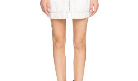 Etoile Isabel Marant Ioline Zip-Front Denim Short Skirt